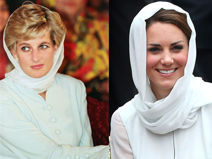 Princess Diana vs. Kate Middleton: 20 Twinning Moments
