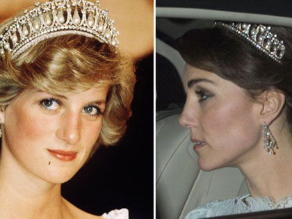 Duchess Kate Is Holiday Magic In One Of Diana's Most-Worn Tiaras