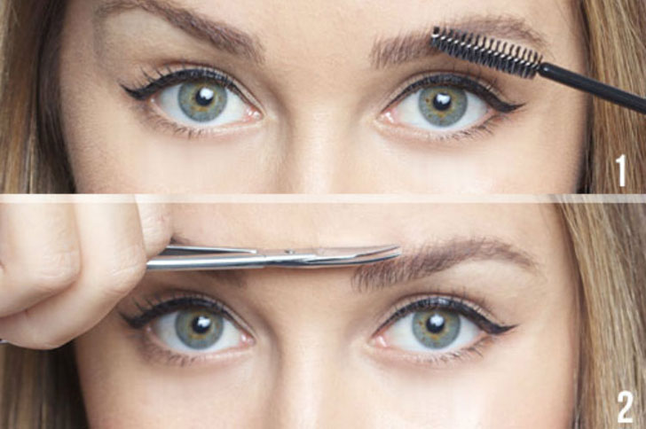 brush your eyebrows