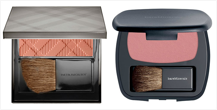 blusher and bronzer