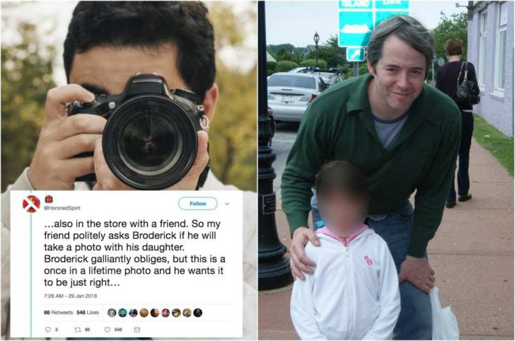 Kid Took A Photo With Matthew Broderick, Then Mom Gasped In Shock_7