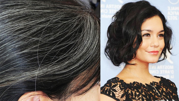 turn white hair into black