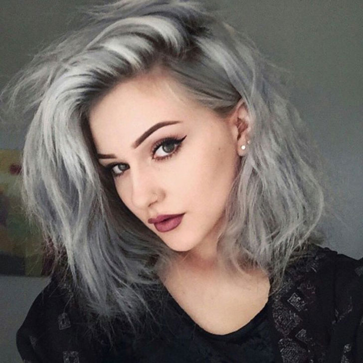 grey hair makeup