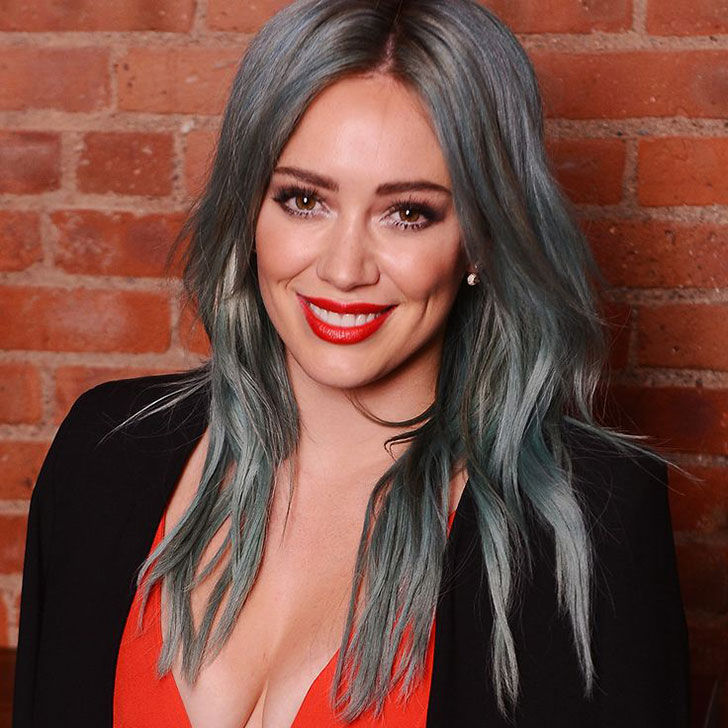 hilary duff grey hair