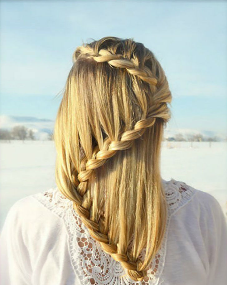 zigzag waterfall braid