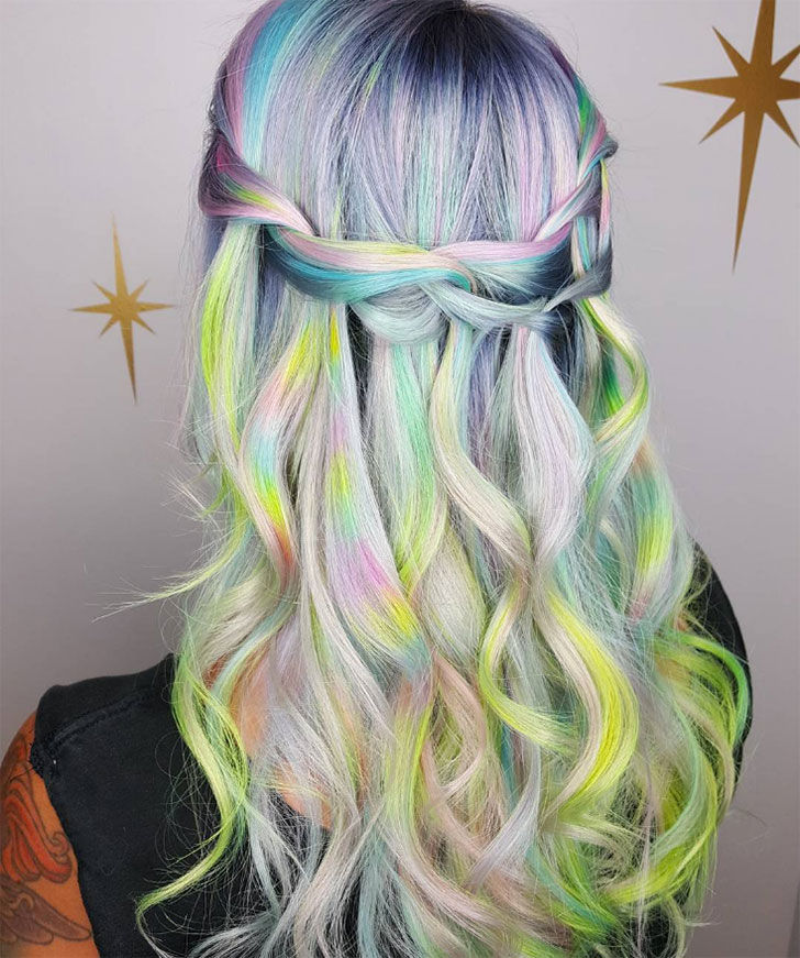 dream on rainbow waterfall braid