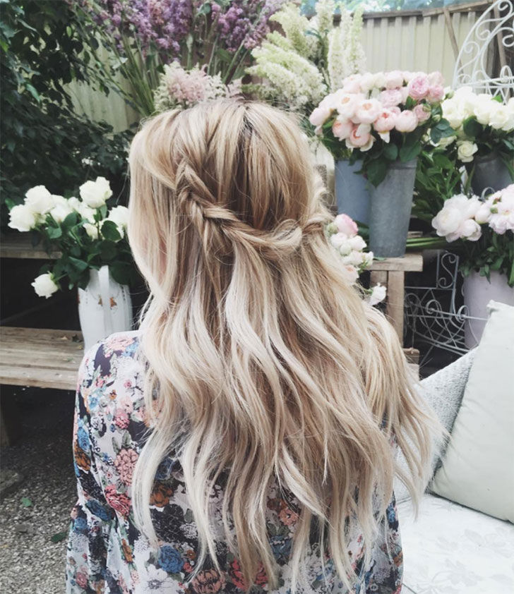 garden goddess waterfall braid