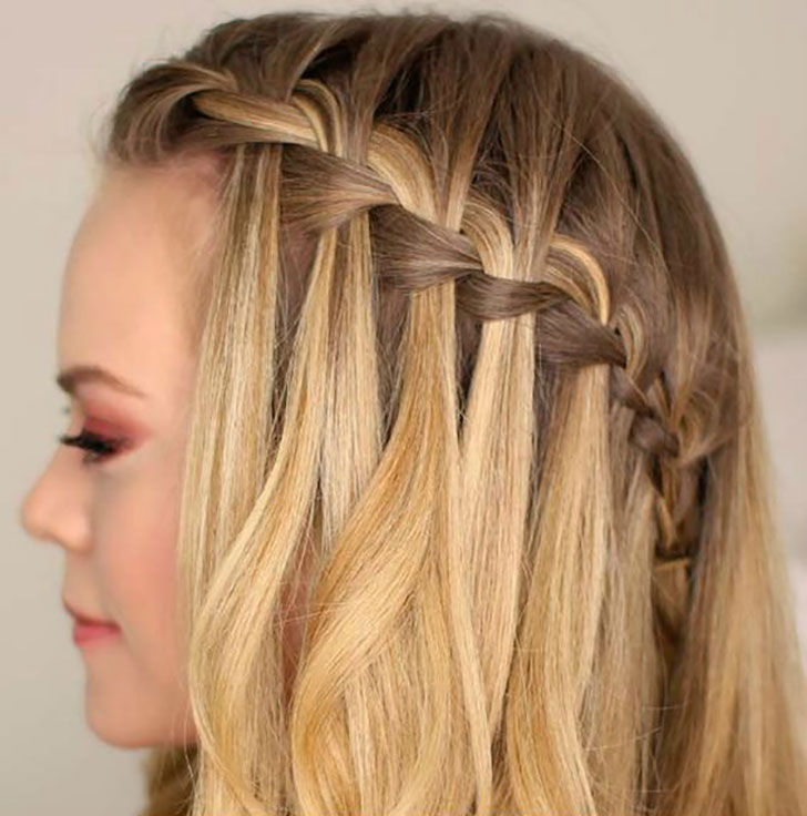 waterfall braids tutorials