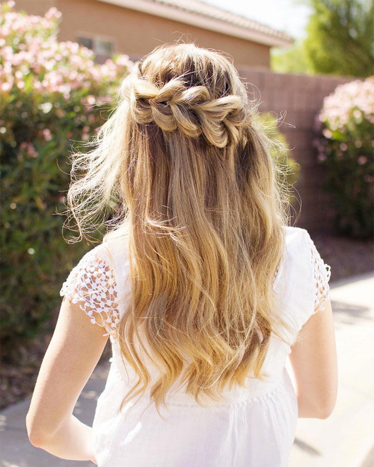 heart waterfall braid