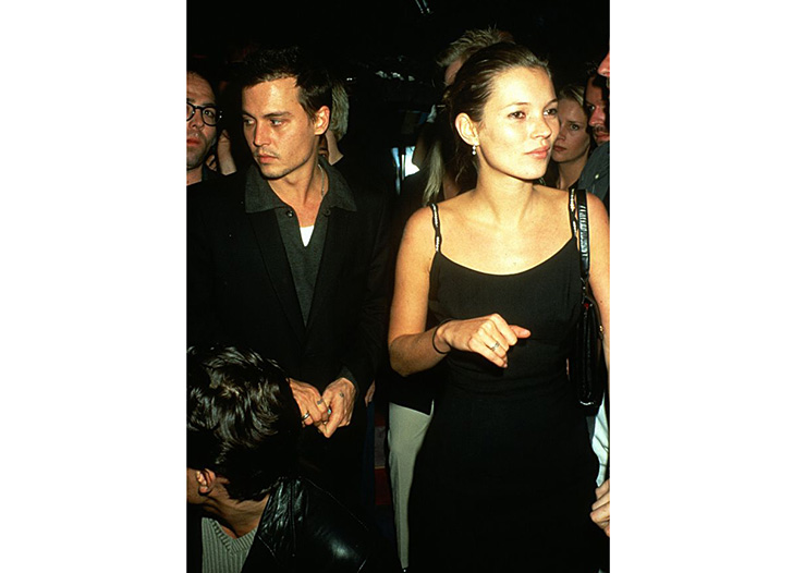 Johnny Depp and Kate Moss, 1990