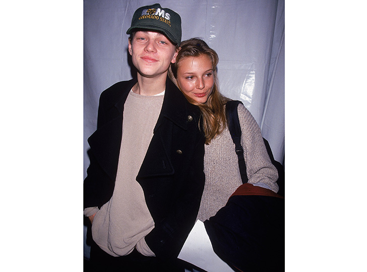 Leonardo DiCaprio and Bridget Hall, 1994